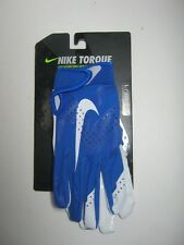 Nike Torque Youth Receiver Football Glove Size Large Blue