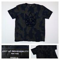 Cult of Individuality Men's Shimuchan Crew Neck T-Shirt Navy 68B8-K72D