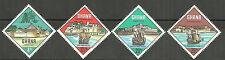 Ghana - Historische Festungen und Schiffe Satz postfrisch 1967 Mi.Nr. 306-309