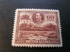 British Guiana  1934   KGV   60c  Mm  High CV  Stamp  as per  pictures
