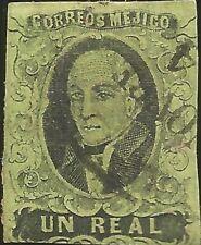 J) 1861 Mexico, Hidalgo, Un Real, Oval Cancellation Veracruz, No District Name,