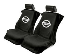 Seat Armour 2 Piece Front Car Seat Covers For Nissan - Black Terry Cloth