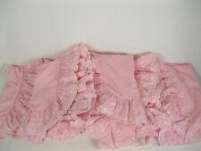 Twin size Pink Hearts  Ruffled canopy bed top/ four side panels  USA
