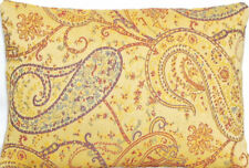 Pierre Frey Fabric Cushion Cover Paisley Woven Textile Yellow 16x12""