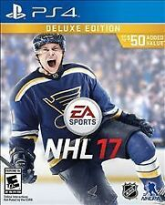 PS4 NHL 17 DELUXE EDITION National Hockey League NEW Sealed Region Free USA