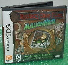 Nintendo DS Mystery Case Files MillionHeir Video Game Lets You Be The Detective
