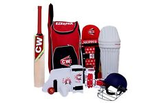 CW STORM Junior Cricket Equipment Set Kit Bag Wooden Bat Size 5 For 10-11 Years