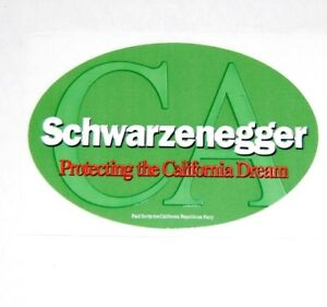 2003 ARNOLD SCHWARZENEGGER STICKER GOVERNOR campaign button political election