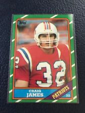 1986 Topps #32  Craig James PATRIOTS  NM/MT+  Set Break w/Top Loader