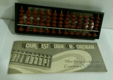 Abacus miniature Soroban w instruction book Sun made in Japan