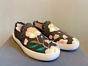 Kate spade women flats Leonie slips floral sneakers size UK 4.5
