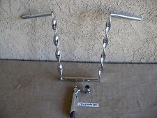 NEW BICYCLE CHROME TWISTED HANDLEBAR & TWISTED STEM GOOSE-NECK FOR LOW RIDER.