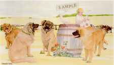 Leonberger Art Print: Off To The Dog Show by Uk Artist Sandra Coen*