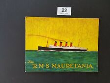 More details for rare r.m.s mauretania cunard line ships brochure 1920's fully illustrated
