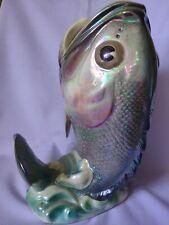 WEMBLEY WARE fish trout LUSTRE VASE vintage pottery decor EXCELLENT COND retro