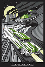 'Cadillac Cover Up'  Sticker by Californian Hot Rod & Custom Artist Max Grundy