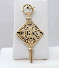 14K GOLD KAPPA ALPHA SOCIETY MEMBERS FRATERNITY POCKET WATCH KEY WINDER FOB 10gr