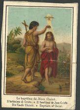 estampa antigua San Juan Bautista y Jesus andachtsbild santino holy card santini