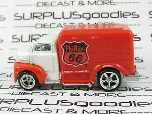 Hot Wheels LOOSE 2009 Slick Rides 1949 '49 FORD COE Phillips 66 w/Real Riders