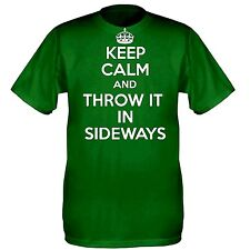 More details for keep calm and throw it in sideways rally t shirt