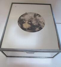 Vintage Mirrored Box Art Deco LARGE Jewelry Hankies Trinkets 8 X 10 X 4 EUC!