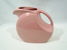 Vintage Fiesta Ware Disc Water Pitcher Pink Rose Homer Laughlin Art Deco