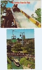 2 Amusement Park Rides: Log Flume, Skyride, River Boats. 6 Flags, Dallas, TX