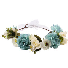 Flower Crown Headband Rose Hair Garland Bride Wedding Headwear Beach Accessories