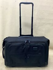 TUMI ALPHA 2 LUGGAGE 22037D2 BLACK WHEELED CARRY ON GARMENT BAG (#811)