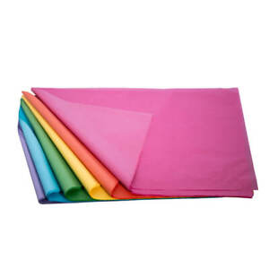 100 x Coloured Tissue Paper Sheets 510mm x 760mm 21gsm Gift Wrap COLOUR FAST