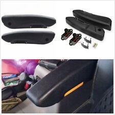 2 Pcs Left+Right PU Leather Car Caravan Seat Armrest Console Box Arm Rest Black