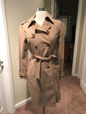 J CREW WASHED COTTON TRENCH COAT SZ.0 NWD