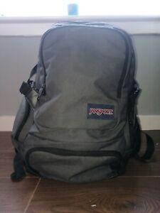 Jansport Backpack Green Olive Bag Luggage Travel Rucksack