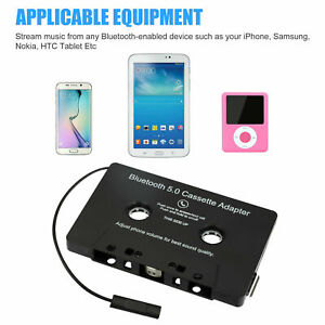Bluetooth 5.0 Car Audio Stereo Cassette Tape Adapter To Aux for  Samsung iphone