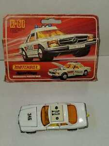Vintage Matchbox Speed Kings K-61 Mercedes Police Car Crown Wheels With Box