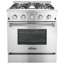 "Gas Range 30"" Thor Kitchen HRG3080U Professional Stainless Steel 4-Burner"