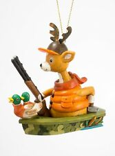 Deer Hunter with Gun Duck Decoys In Boat Christmas Holiday Ornament 3.75 Inches