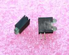 LED Two Green T1 (3mm) LED's in holder - Lot of 10  (93L004)