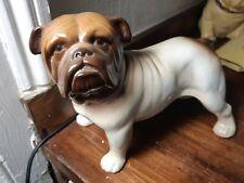 "7"" High Melba Ware Figurines Dog Bulldog Figurine Bull Dog Ornaments  Vx86"