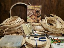 Huge Assorted Lot Of Round/Flat Reed For Making Baskets 20lbs +/- Basket Weave