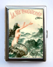 Cigarette Case id case Wallet La Vie Parisienne Mermaid and Airplane
