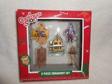 A Christmas Story 5 Piece Ornament Set NIB Ralphie Leg Lamp Easter Bunny House