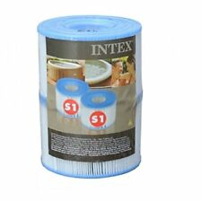INTEX 29001E PureSpa Type S1 Easy Set Pool Filter Cartridges, 6 Filters