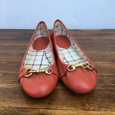 Womens (6B) Coach Orange Ballet Flats Slip Ons Casual Shoes Orange