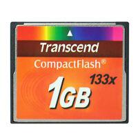 Transcend CompactFlash CF Card 1GB 133X Compact Flash Card CF Memory Card