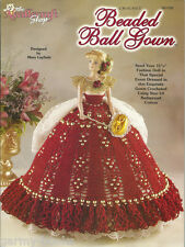 Beaded Ball Gown Crochet for Barbie Fashion Doll Dress Clothing Patterns TNS NEW