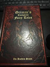 Grimm Fire Binding Fairy Tales Book Leather Bound