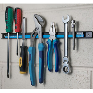 Wall Mounted Magnetic Tool Organiser for Hanging Magnetic Tools on a wall