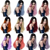 Fashion Long Hair Full Wig Halloween Cosplay Synthetic Women's Wavy Curly Wigs