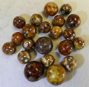 #13001m Vintage Group of 20 German Handmade Bennington Marbles